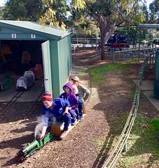 Millswood. Model miniature railway. Adelaide.