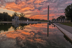 Dawn Sky This Morning on the National Mall
