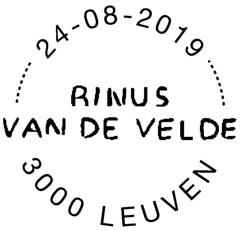 15 Rinus Van De Velde cachet NEW