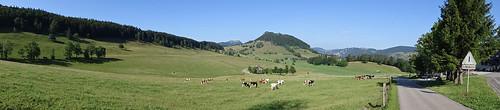 Panorama in Richtung Hintere Schmidenmatt vom Gasthaus Vorderer Schmidenmatt aus