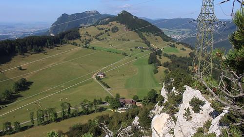 Auf dem Gipfel des Rüttelhorn (1193 m.ü.M) oberhalb der Amwirtschaft Vordere Schmidenmatt