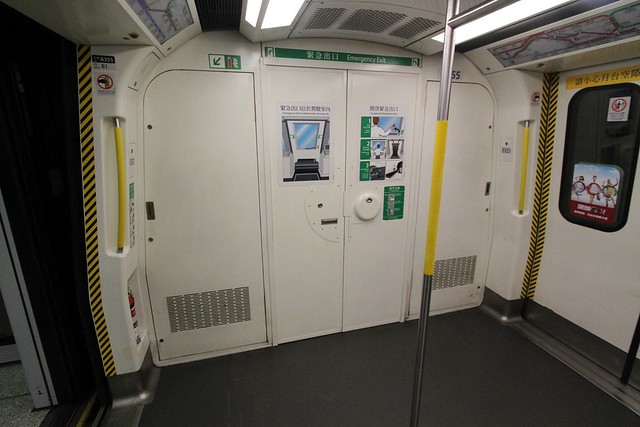 Emergency exit via the cab of a MTR CNR Changchun EMU