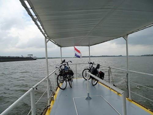 On the ferry to Lage Zwaluwe