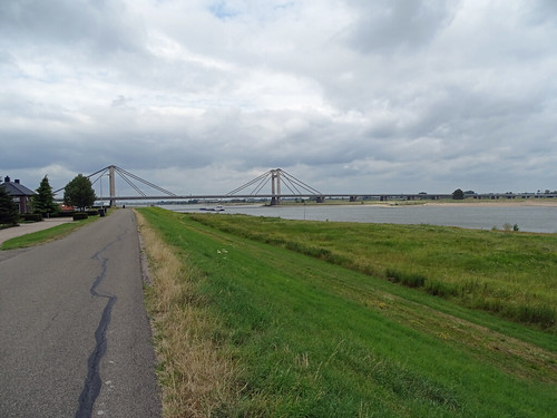 Bridge over the Waal (Rhine) near Beneden Leeuwen