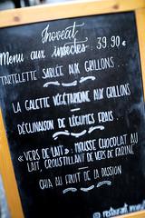 Le menu vous tente ? ;-) Does the menu tempt you?