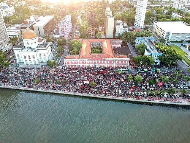 No Recife, o ato tem concentração marcada às 15h, na rua da Aurora, em frente ao Colégio Ginásio Pernambucano, no centro da cidade - Créditos: Pedro Pereira