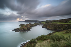 Image by peterspencer49 (35972709@N03) and image name Watermouth Bay photo  about This is a long exposure at Watermouth in Devon.