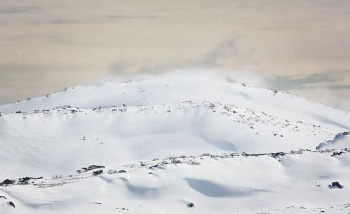 The mountain turns to mist.