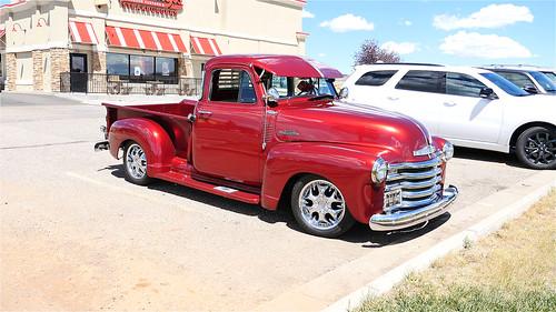Red classic pickup truck!