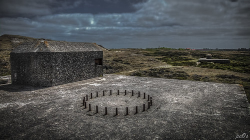 Anti-aircraft cannon bunker Texel