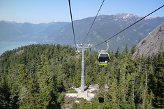 Sea to Sky Gondola, 2 days before a line was cut!