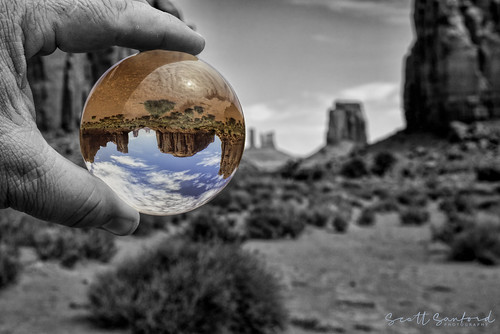 Lensball in Monument Valley