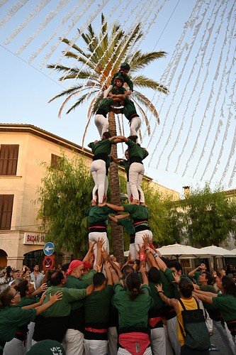 Tower is almost complete, Performance of Castellers de Llevant