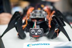 Spinenartiger Roboter mit süßem Gesicht