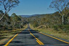 Alpine Way. Driving in Kosciuszko National Park