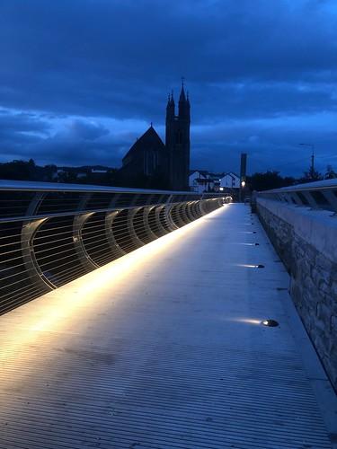 New pedestrian bridge over the River Finn opened 18th November 2018.