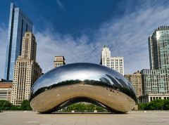 Image by NettyA (7272097@N08) and image name Another early morning at The Bean photo  about Also known as Cloud Gate in Millennium Park, Chicago.