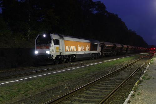 2018-10-18; 0138. Plandampf im Werratal, Dampffinale. HVLE Maxima 40cc VL490.2. Marksuhl.