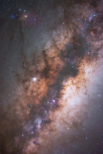 Milky Way Core at Yenyening Lakes, Western Australia - Tracked & Stacked