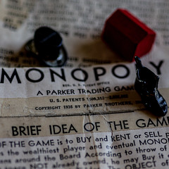 Image by Mi Bob (springlake) and image name Monopoly Instructions Copyright 1936 (Explore 8-12-2019) photo  about Early instructions of Monopoly.  The game was acquired by Parker Brothers in 1935, these instructions are from 1936 making them one of the earliest printed instructions published by Parker Brothers.  Measured to under 3 inches.