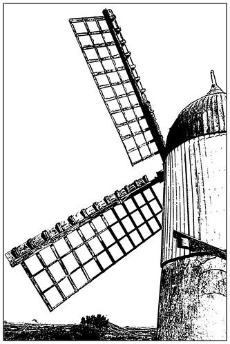 Graciosa Island (Azores), windmill