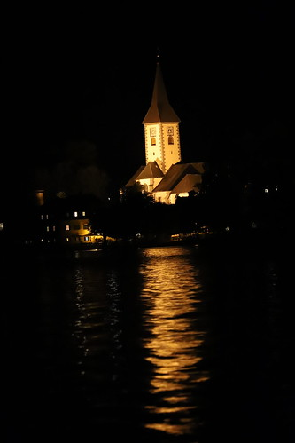 Ossiach Lake and Church at Night