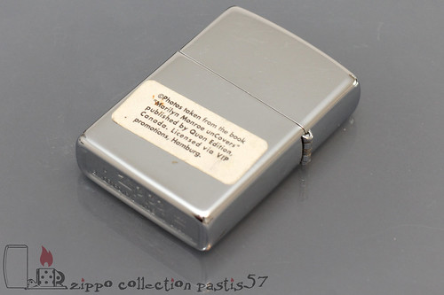 Zippo Marilyn Monroe 1995-08 H-XI Serie 852.150 Marilyn unCovers 3D Hollywood Pin-ups 5922 Verso
