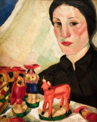 The Stall Woman at the Fair(c. 1923-1925) - Mário Eloy (1950-1951)