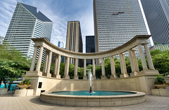 Image by NettyA (7272097@N08) and image name Millennium Monument, Chicago photo  about Other sights in Millennium Park, Chicago.  I process my photos with Skylum's Luminar and find it easy to use with great results. Here is a link if anyone is interested in trying it out: skylum.grsm.io/janetteasche8660