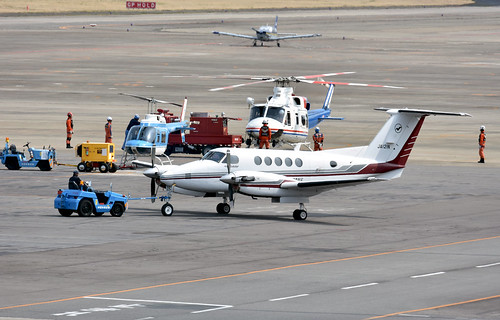 Nakanihon Air Service, JA121N, Beechcraft B200 Super King Air at NKM