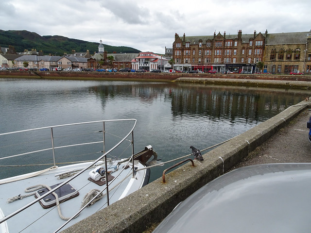 Campbeltown harbour with a pigeon, 2018 Aug 07