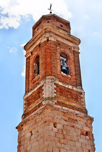 Torre de la iglesia de San Roque (Vivel del Río Martín)