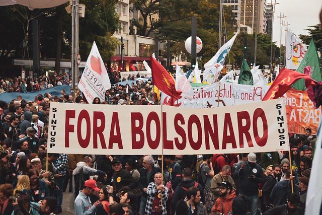 Protesta en la Avenida Paulista en la ciudad de São Paulo. Sugún un conteo del CNTE, hubo protestas en 208 municipios brasileños - Créditos: Foto: Elineudo Meira