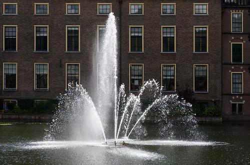 Fountain of Hofvijver. Binnenhof