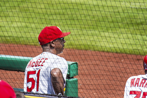 #51 WIllie McGee - St Louis Cardinals Assistant Coach - Cardinals Hall of Famer
