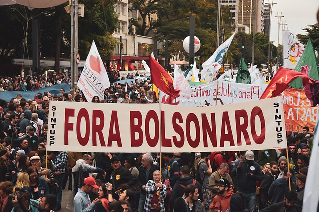 Organizers estimate that protests were held in 211 cities across Brazil. In the picture, demonstration in São Paulo - Créditos: Elineudo Meira
