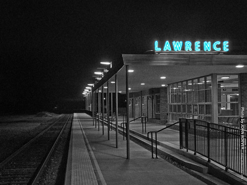 Lawrence Train Station (mix of color & b/w), 28 Dec 2018