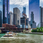 Barge on Chicago River