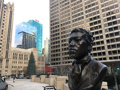 Jean Baptiste Pointe DuSable Statue on Michigan Ave