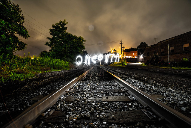Oneonta Light Painting