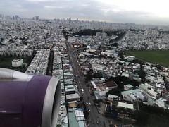 Flying into Ho Chi Minh City