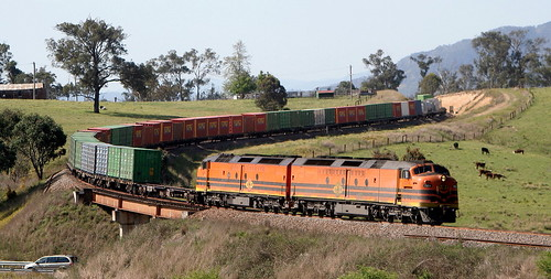 CLF4 & CLF3 1BM7 BETWEEN GLOUCESTER AND STRATFORD NSW NORTH COAST LINE 8th Oct 2019.