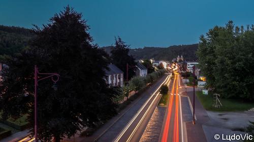 Night traffic in Malmedy (BE)