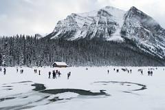 Patinando sobre hielo en Lago Louise (Banff - Alberta - Canadá)