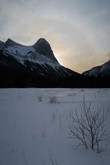 Mt. Lawrence Grassi en Canmore visto desde Quarry Lake Park (Banff - Alberta - Canadá)