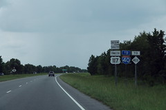 Begin US117 Connector South to I-40 NC403 Signs