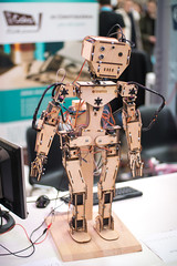 Bipedal robot made of plywood