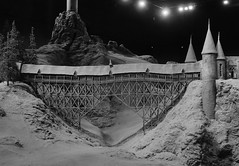 Model of tCovered Bridge, Hogwarts, Great Hall, Hogwarts, Harry Potter Studio Tour