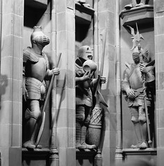 Scultures outside the Great Hall, Harry Potter Studio Tour