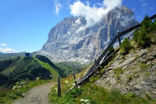 Le pareti del Sassolungo da Ciampinoi, Val Gardena